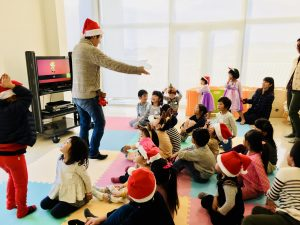 Kids Learning Christmas Words