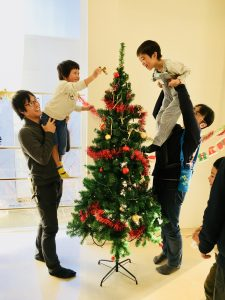 Decorating the Christmas Tree